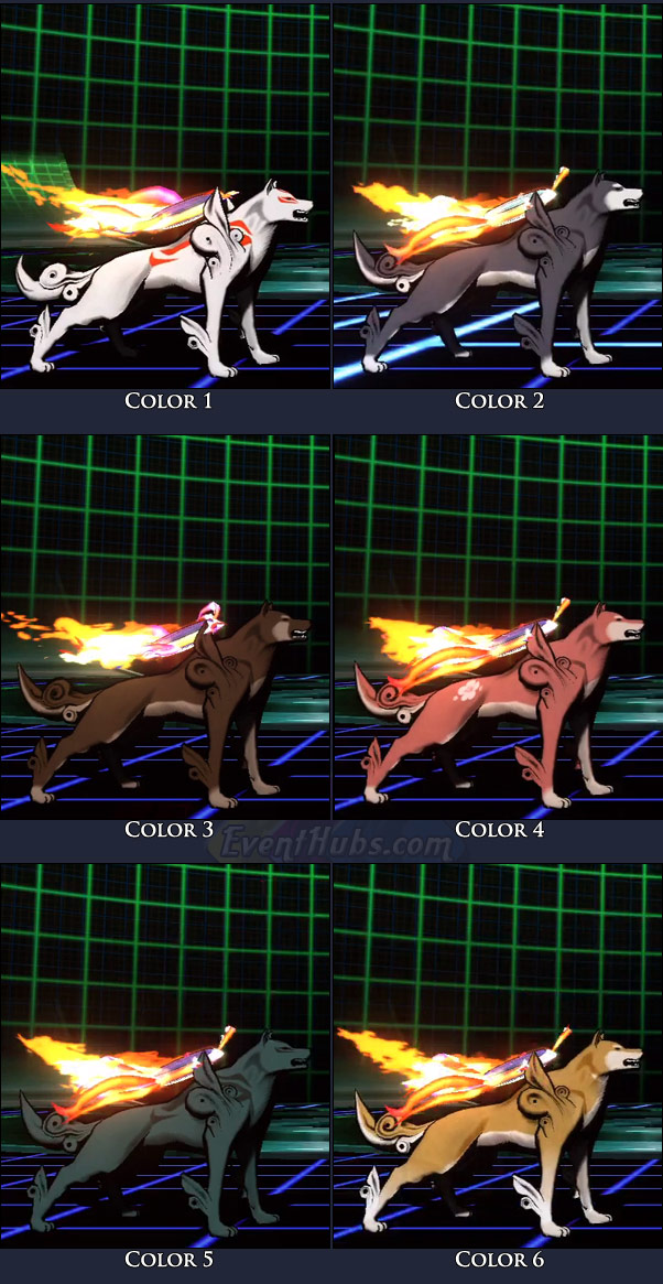 Amaterasu's main costume colors in Marvel vs. Capcom 3