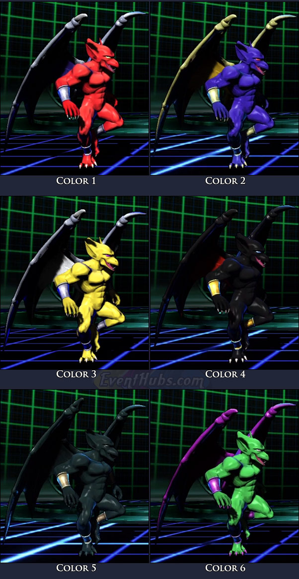 Firebrand's main costume colors in Marvel vs. Capcom 3