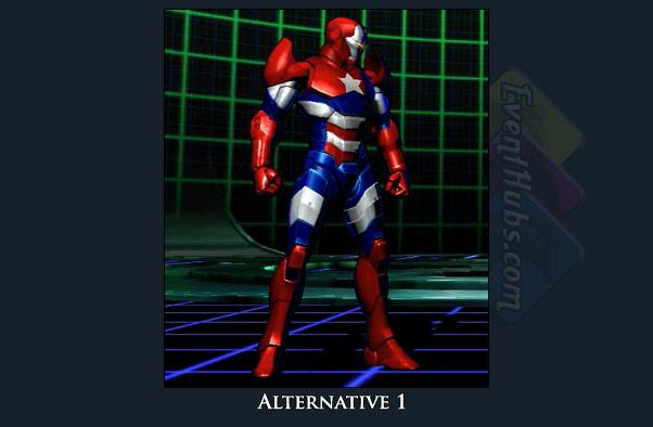 Iron Man's alt costume color in Marvel vs. Capcom 3
