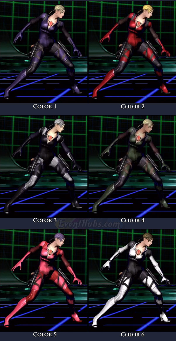Jill's main costume colors in Marvel vs. Capcom 3