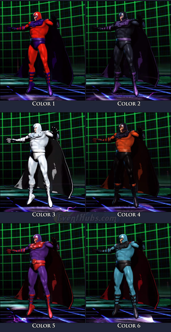 Magneto's main costume colors in Marvel vs. Capcom 3