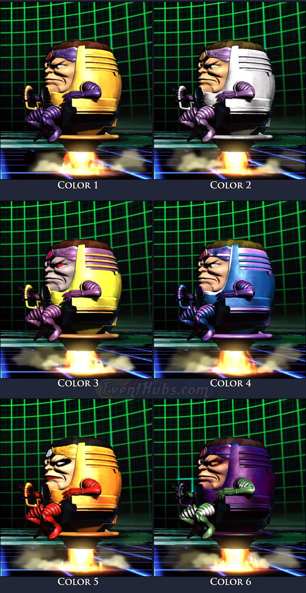 M.O.D.O.K's main costume colors in Marvel vs. Capcom 3