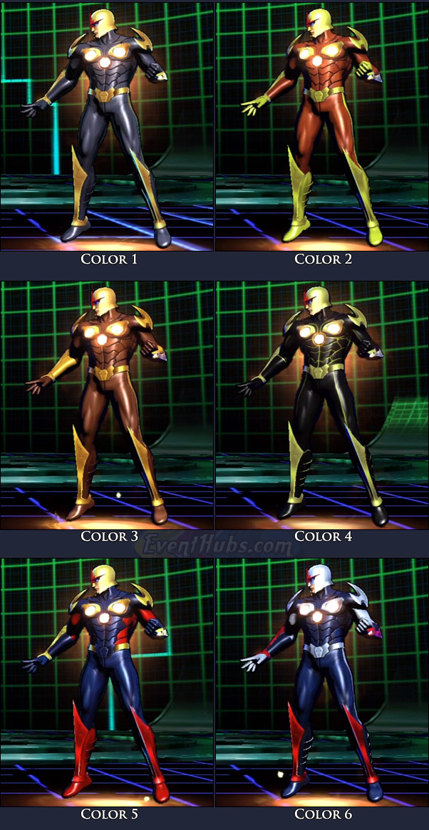 Nova's main costume colors in Marvel vs. Capcom 3