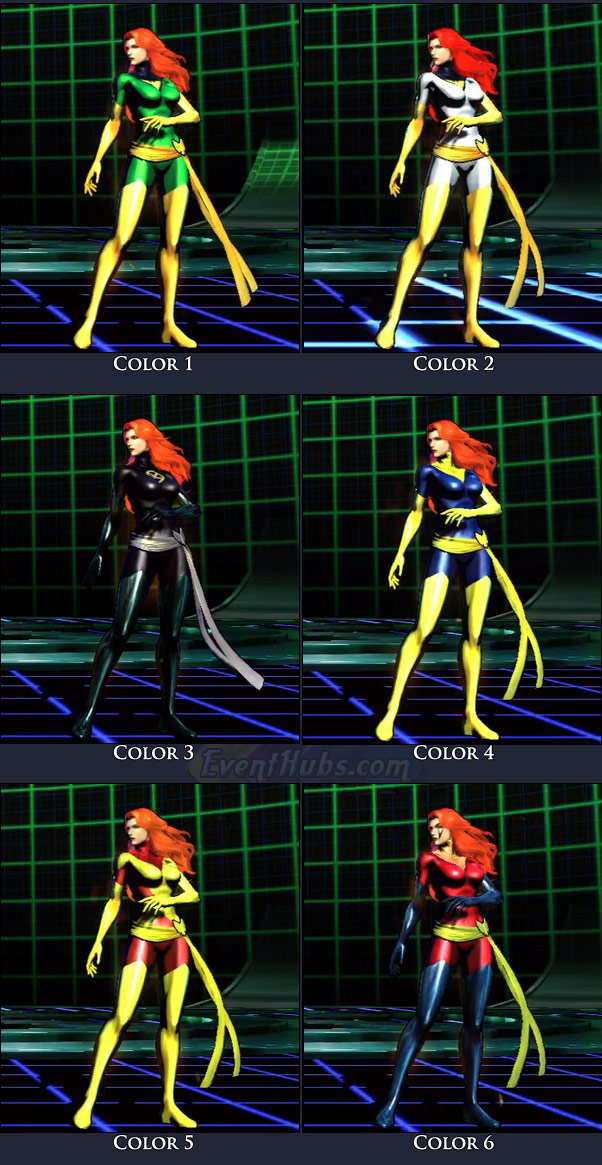Phoenix's main costume colors in Marvel vs. Capcom 3