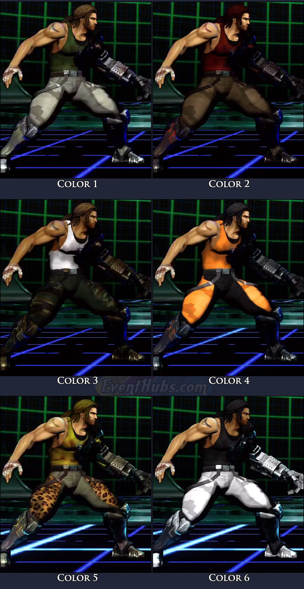 Spencer's main costume colors in Marvel vs. Capcom 3