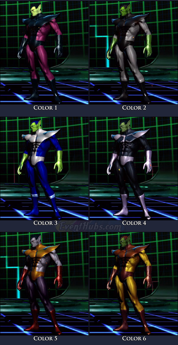 Super-Skrull's main costume colors in Marvel vs. Capcom 3