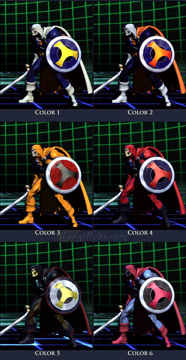 Taskmaster's main costume colors in Marvel vs. Capcom 3