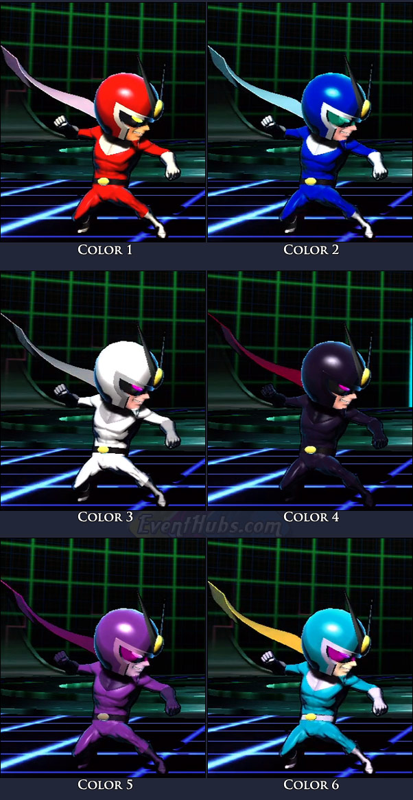 Viewtiful Joe's main costume colors in Marvel vs. Capcom 3