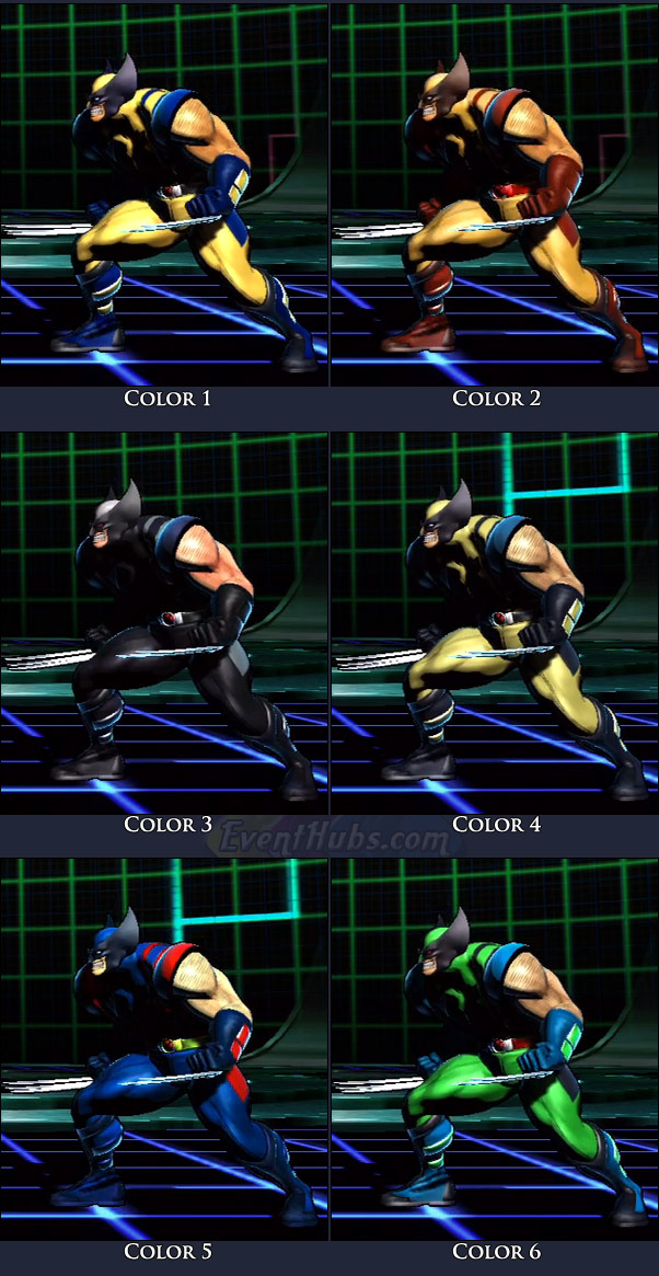 Wolverine's main costume colors in Marvel vs. Capcom 3
