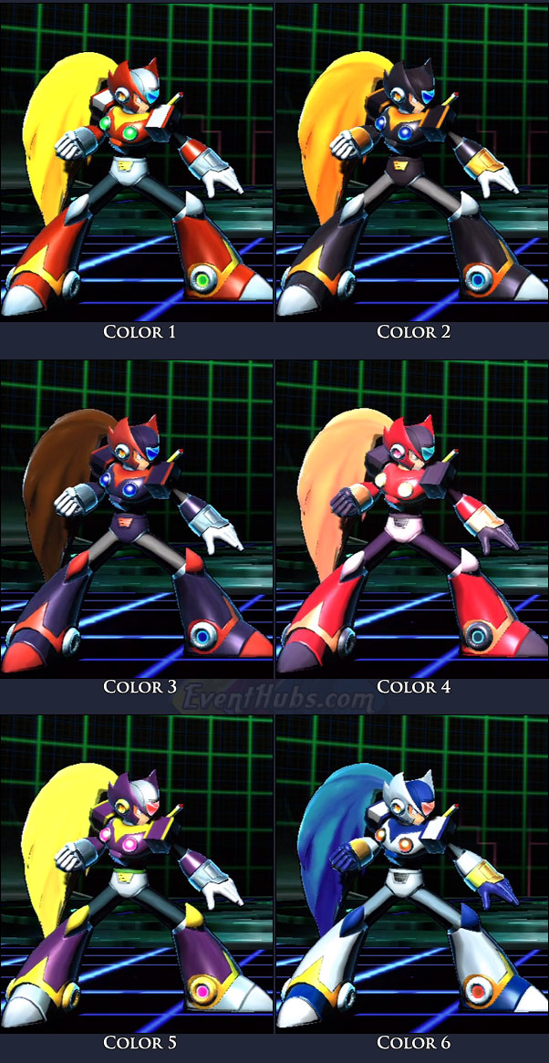 Zero's main costume colors in Marvel vs. Capcom 3