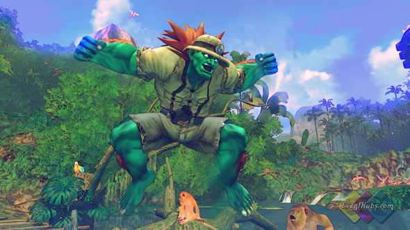 Blanka's alternate costume in Street Fighter 4