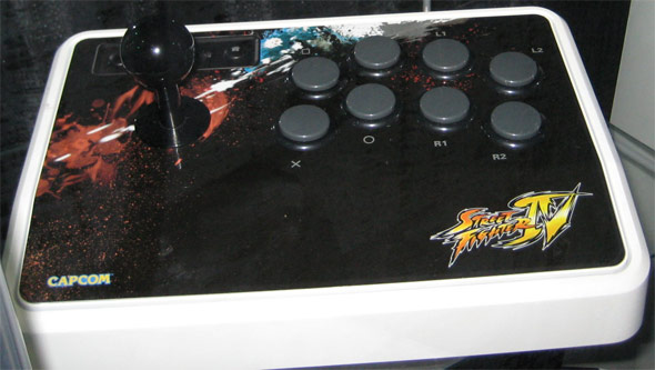 Photo of a Mad Catz's official Street Fighter 4 joystick