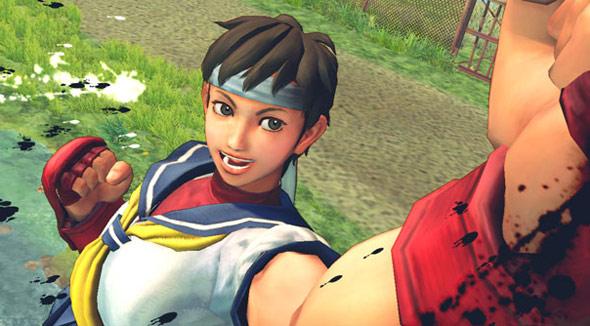 Sakura Street Fighter 4 with new background