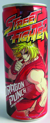 Street Fighter energy drink American