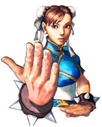 Chun Li character select screen artwork Street Fighter 4