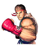 Ryu character select screen artwork Street Fighter 4