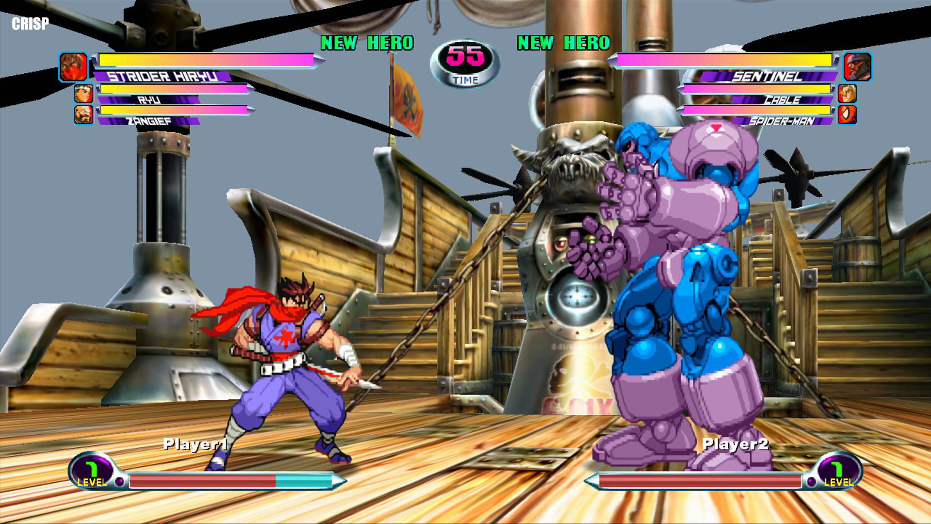 Marvel vs. Capcom 2 HD Sprites in Crisp rendering mode