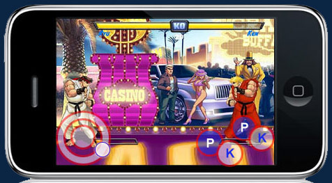 Street Fighter iPhone mock up
