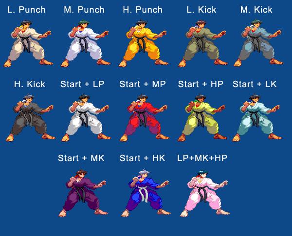 Makoto's color guide