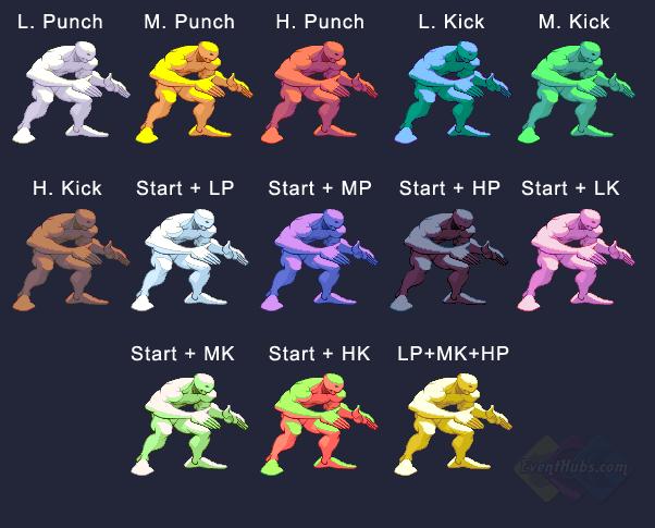 Twelve's colors in Street Fighter 3 Third Strike
