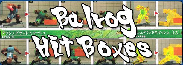 Balrog's hit box information Super Street Fighter 4 Arcade Edition