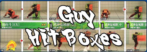 Guy's hit box information Super Street Fighter 4 Arcade Edition