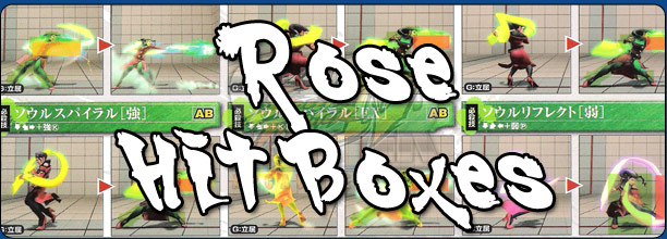 Rose's hit box information Super Street Fighter 4 Arcade Edition