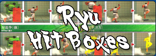 Ryu's hit box information Super Street Fighter 4 Arcade Edition
