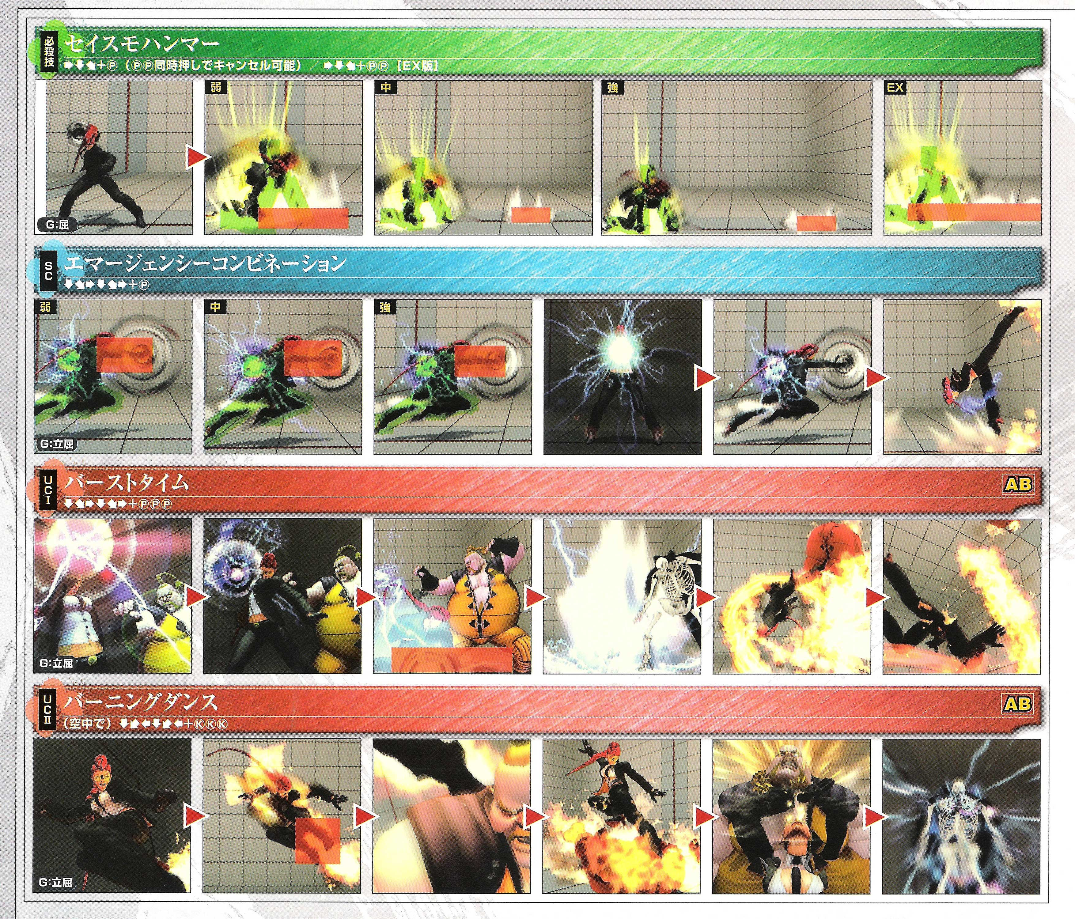 C. Viper's hit box information for Super Street Fighter 4 Arcade Edition image #3