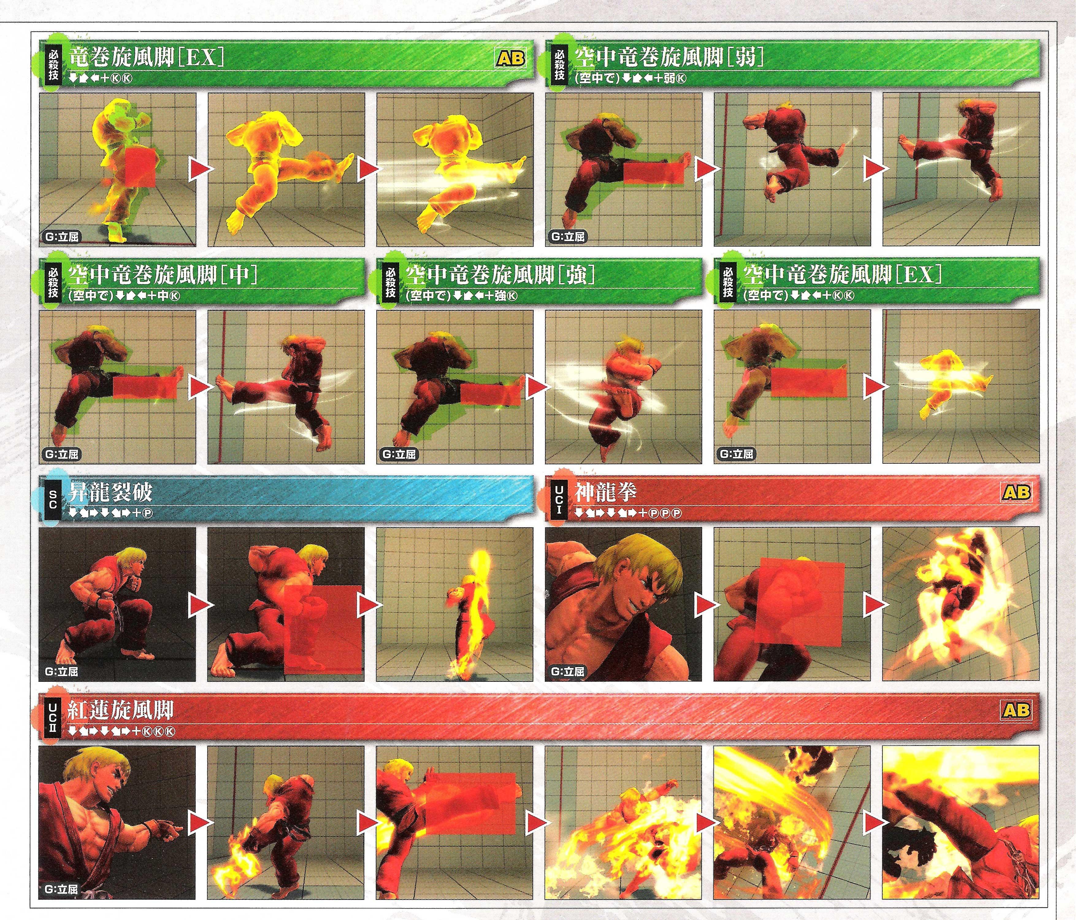 Ken's hit box information for Super Street Fighter 4 Arcade Edition image #3