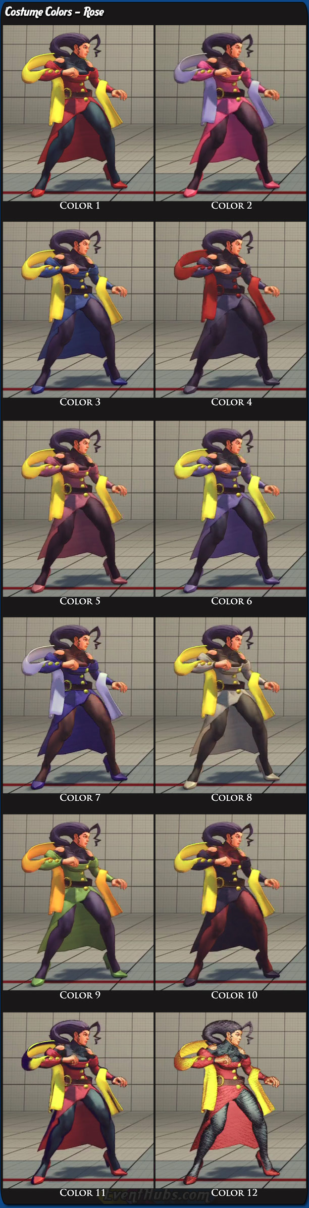 Rose's main costume colors for Super Street Fighter 4