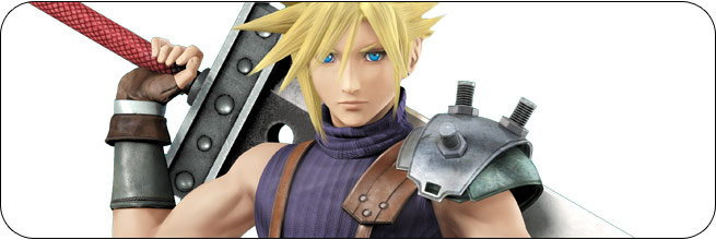 Cloud Super Smash Bros. Wii U artwork